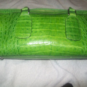 wilsons leather faux lime green medium handbag